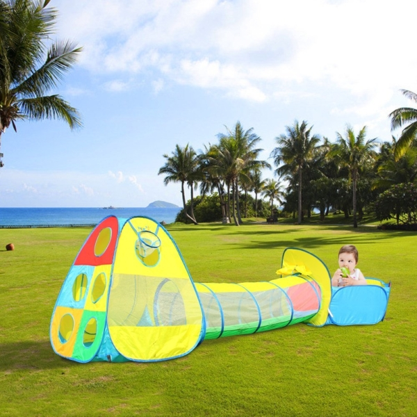 Viciviya Kids Pop up Play Tent with Tunnel and Ball Pit(3-in-1) Promote Imagination and Early Learning